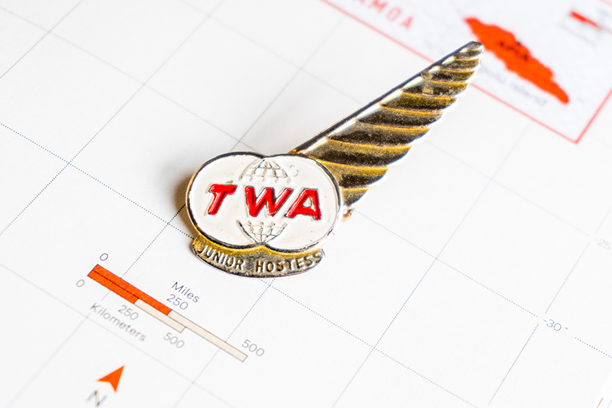TWA Junior Hostess Wing Pin.