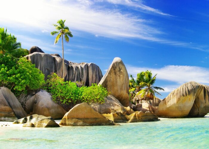 The Seychelles Beach and Rocks