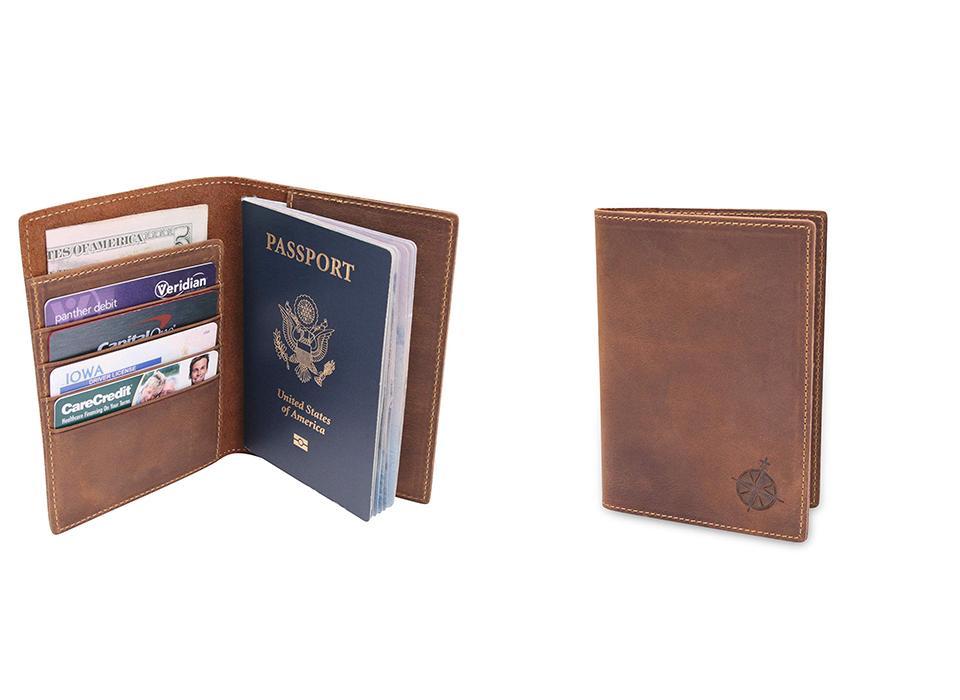RFID Blocking Passport Wallet Leather Designer Travel Document Cover Card Holder
