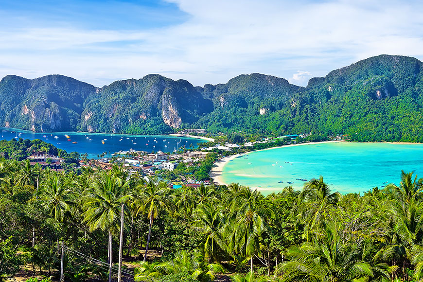 view from koh phi phi don viewpoint.