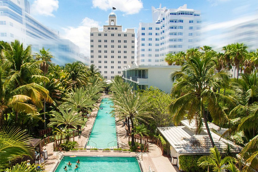 pool at national hotel miami beach.