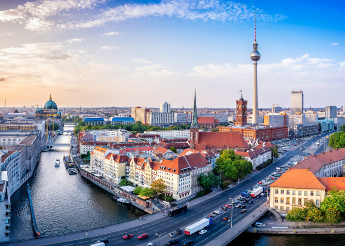 panoramic berlin skyline