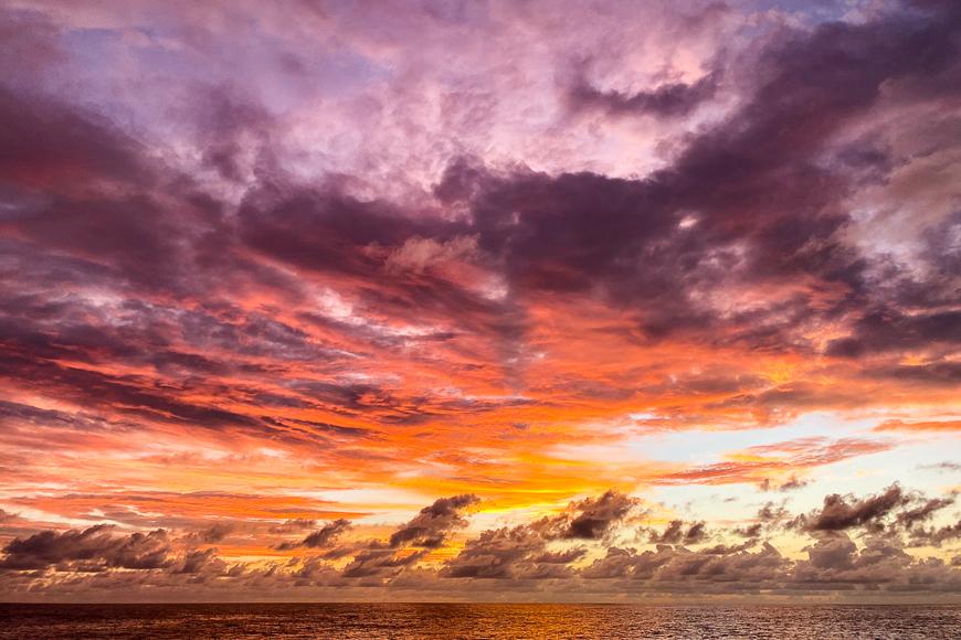 sunset in seychelles