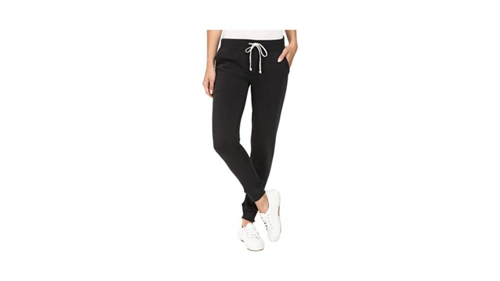 Made in USA Black French Terry Classic Jogger Style Sweatpants with an Elastic Waistband and Side Pockets
