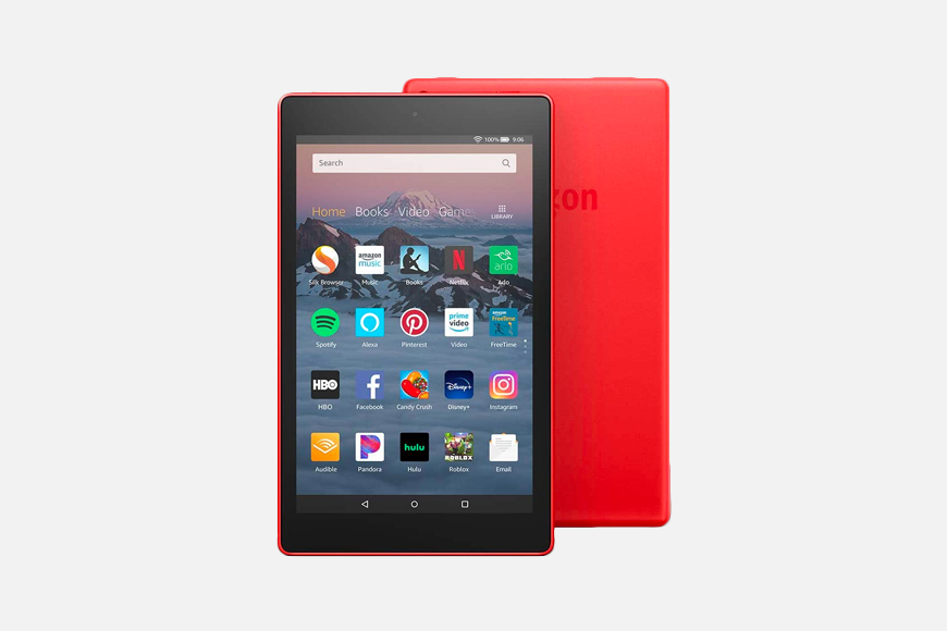"Fire HD 8 Tablet (8"" HD Display, 16 GB) - Red."