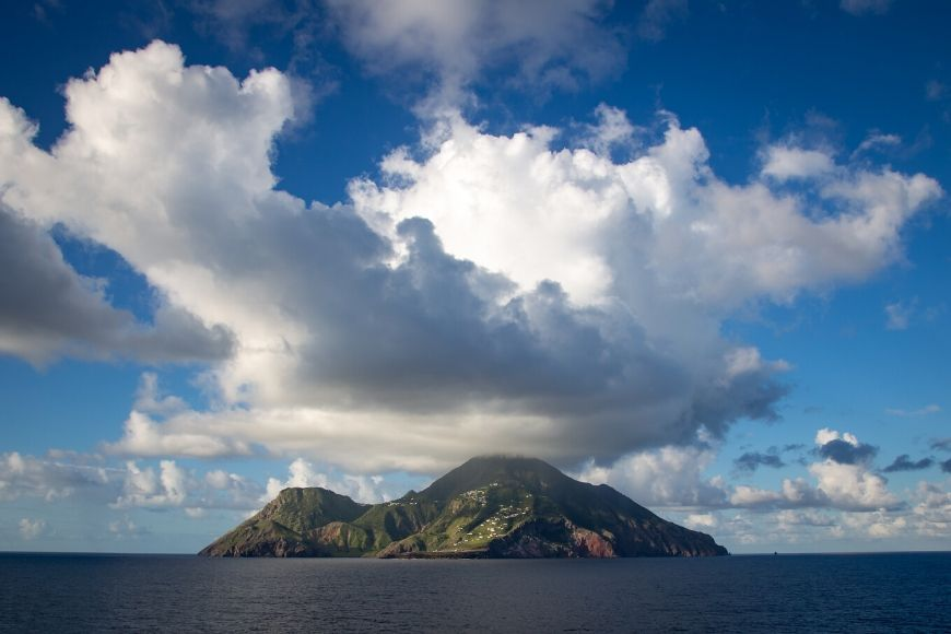 saba island caribbean.