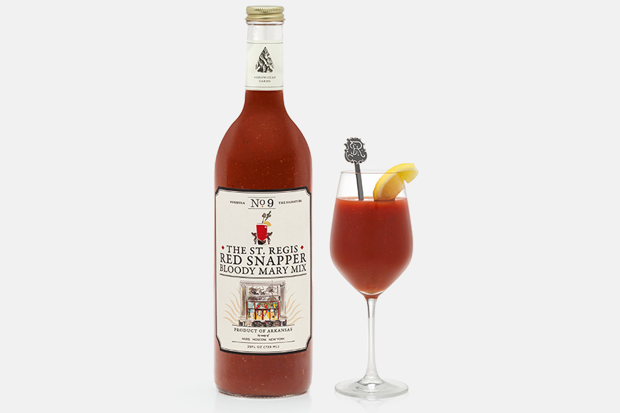 The St. Regis Red Snapper Bloody Mary Mix, created exclusively by Arrowhead Farms