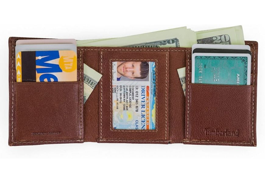 Timberland Genuine Leather RFID-Blocking Trifold Security Wallet.