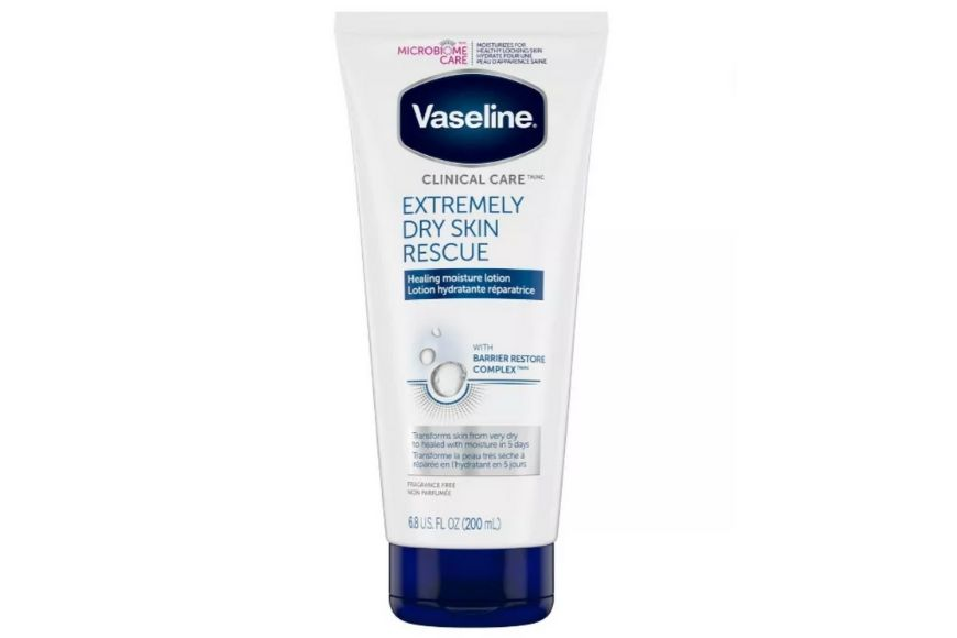 Vaseline Clinical Care Extremely Dry Skin Rescue.