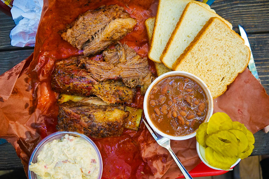 austin barbecue meal.