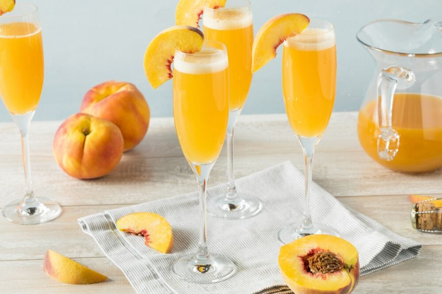 bellini cocktail.