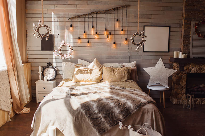 hygge bedroom.