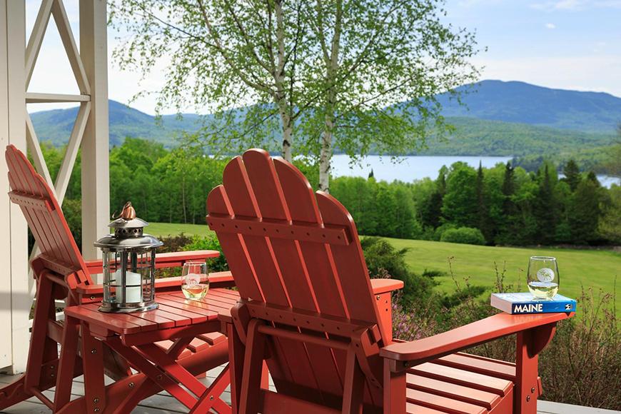 lodge at moosehead lake maine adirondack chairs.