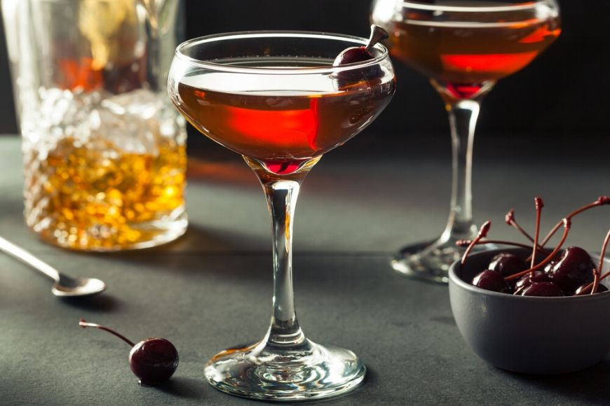 manhattan cocktail.