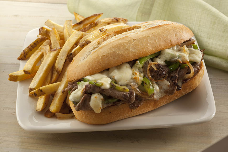 philly cheese steak with fries.