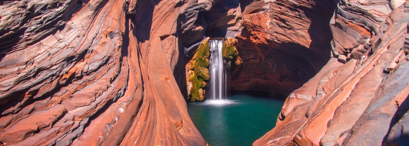 karijini national park waterfall.