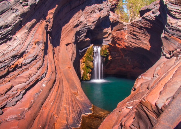 karijini national park waterfall.