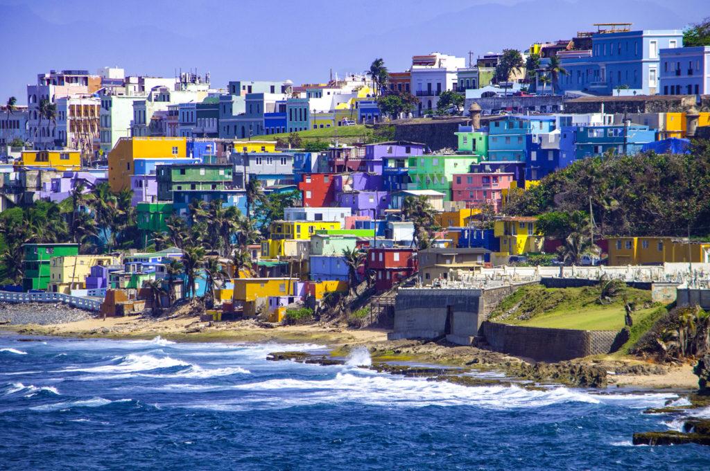 Hillside of San Juan overlooking beach
