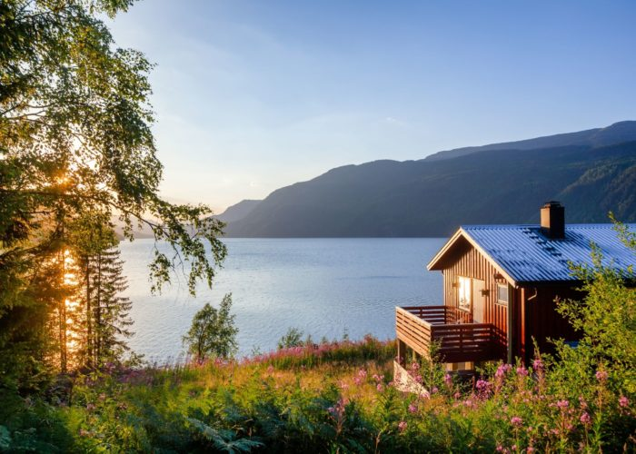 cabin inside national park.