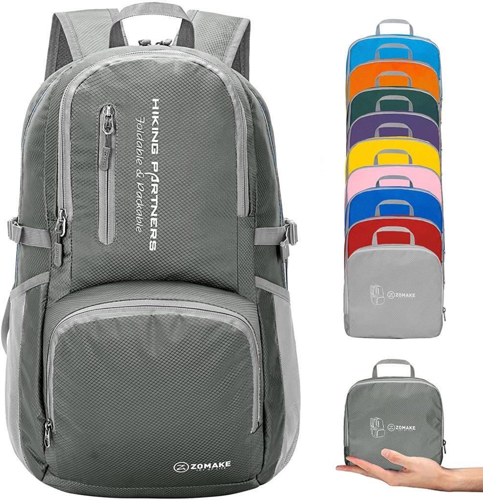 ZOMAKE Lightweight Packable Water Resistant Backpack