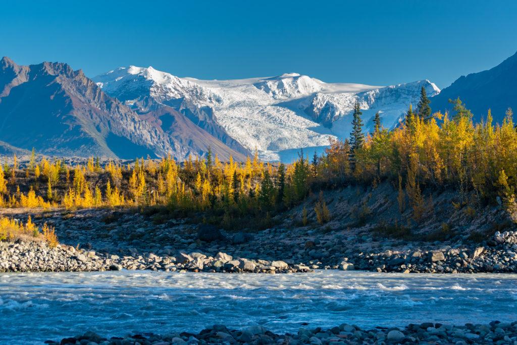 View of the mountains in Wrangell-St. Elias National Park, Alaska