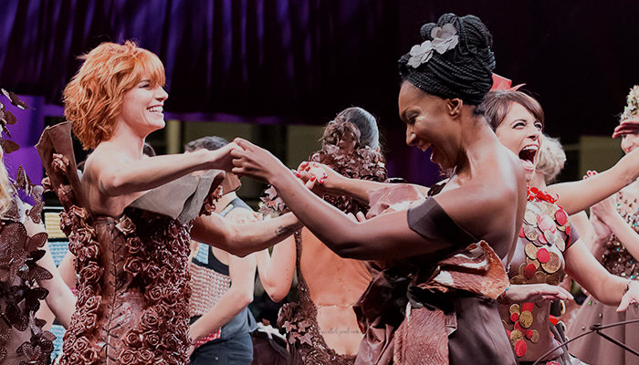 Women at Salon du Chocolat fashion show