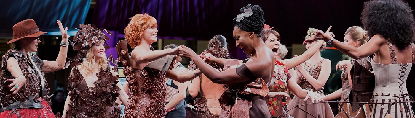 Women at Salon du Chocolat fashion show