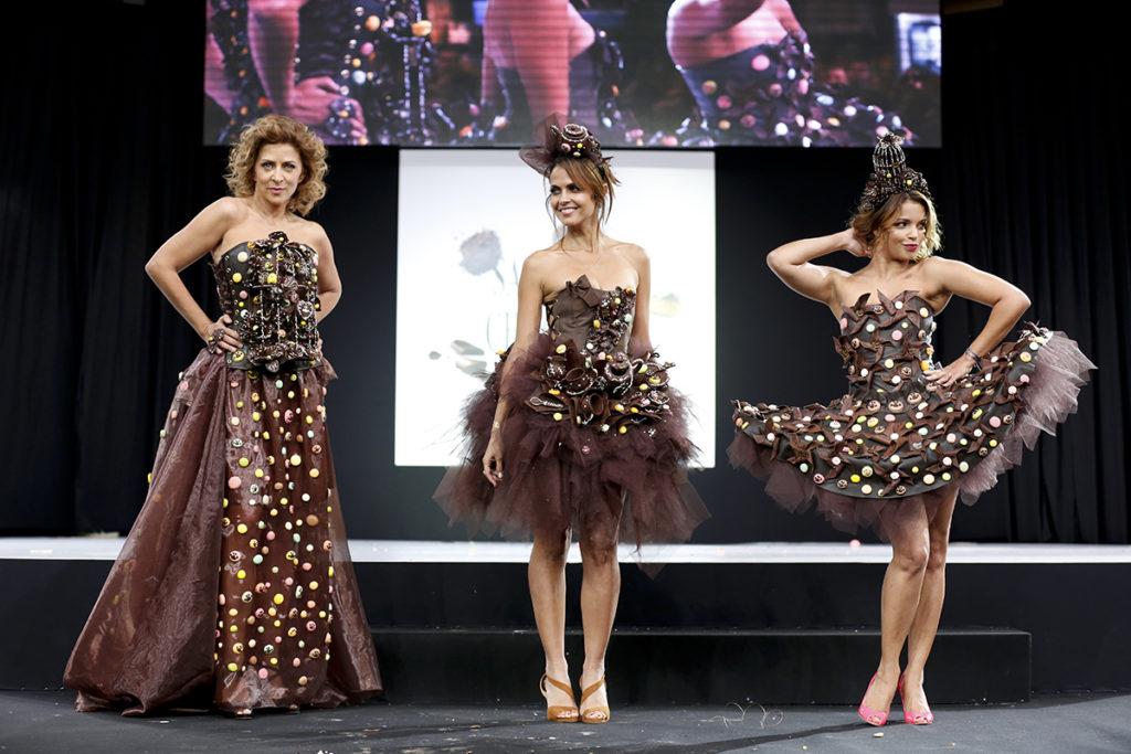 Women at the Salon du Chocolat fashion show