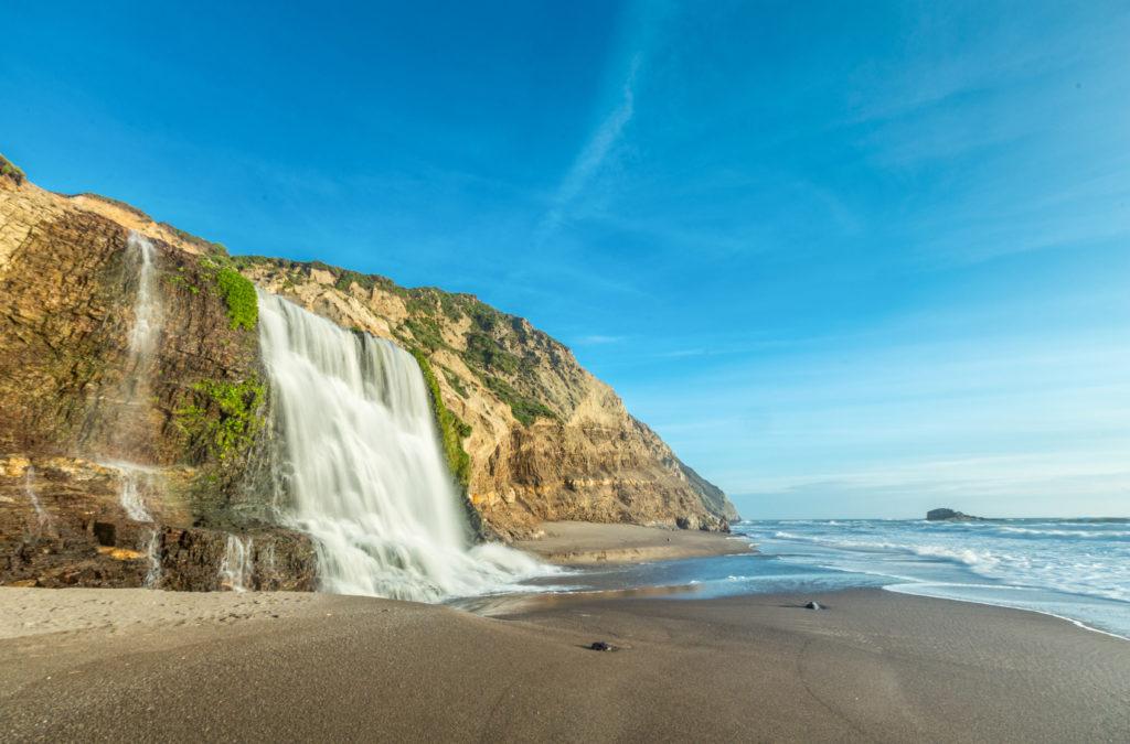 Alamere Falls at Wildcat Beach, California