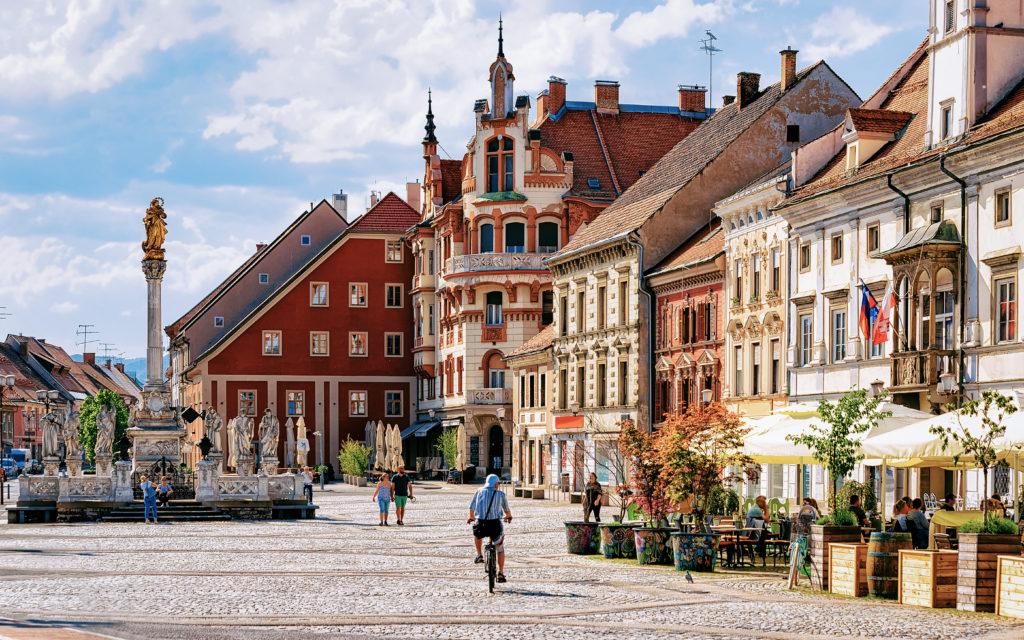 Maribor Town Hall Square Slovenia