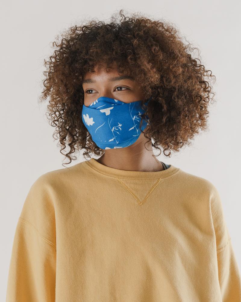 Fabric tie face mask set