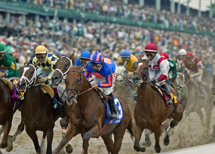 Racers at the Kentucky Derby