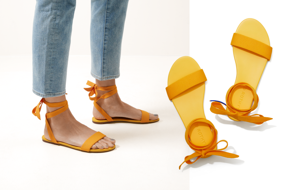 Wrap Sandal in Canary Yellow