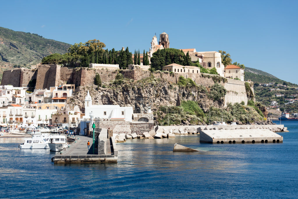 Harbor of Lipari, Aeolian Islands, Italy
