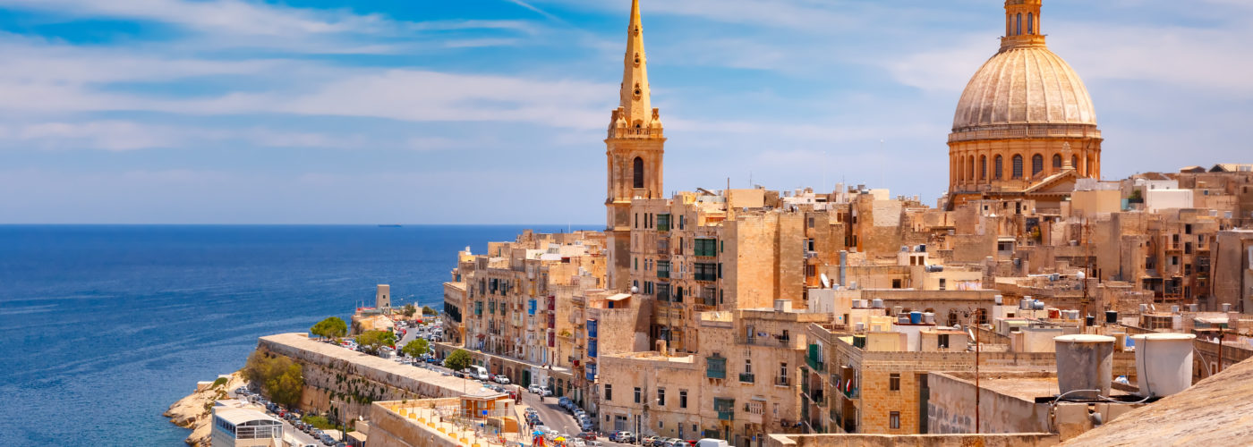 Domes and roofs of Valletta, Malta