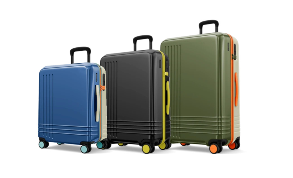 Three options of luggage from ROAM Luggage