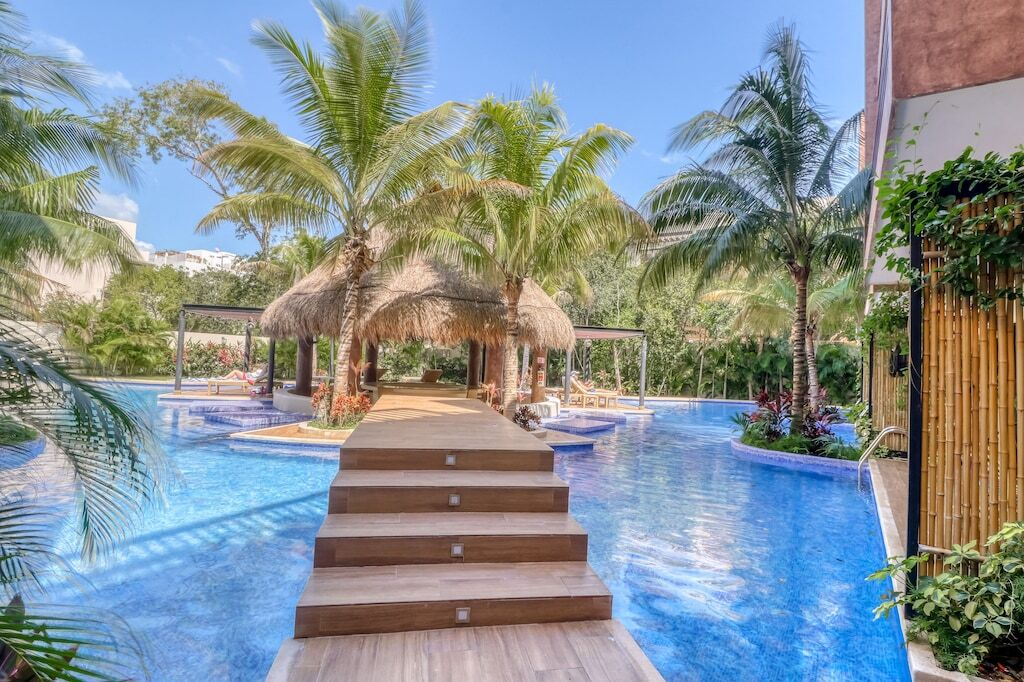 A swimming area attached to a vacation rental home in Tulum, Mexico