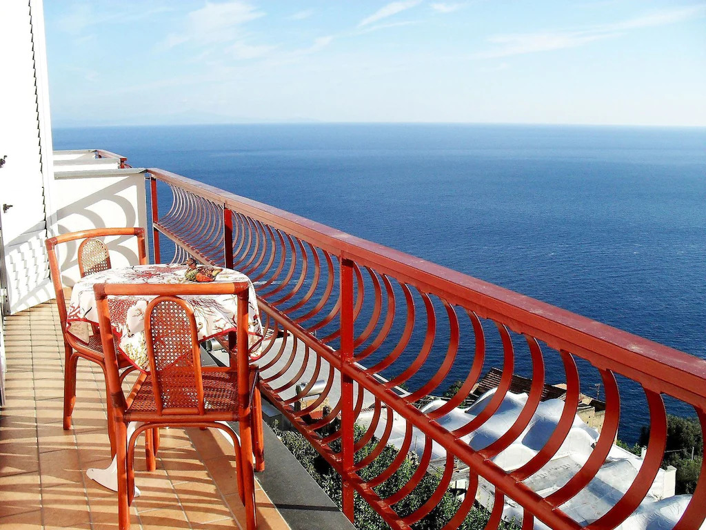 A deck with sitting area in The Amalfi Coast, Italy