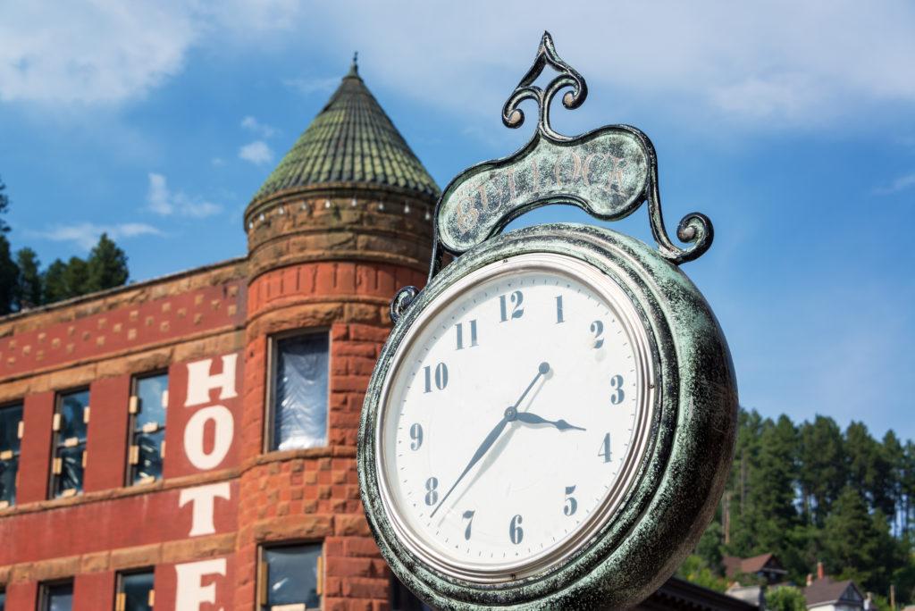Historic clock in Deadwood, South Dakota