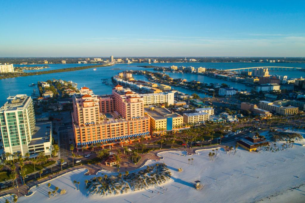 Resorts and condos at Clearwater Beach, Florida