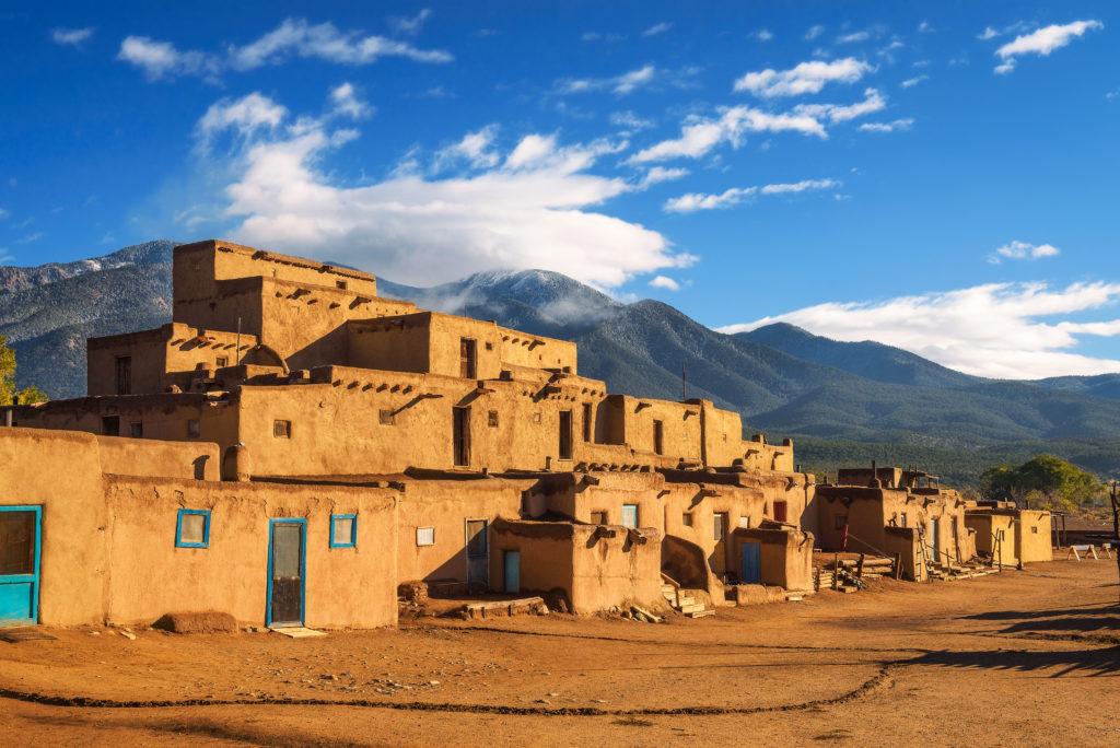 Homes at Taos Pueblo in Taos, New Mexico