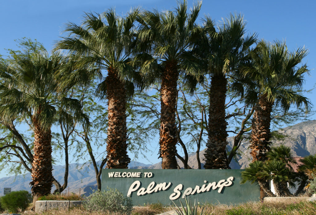 Welcome to Palm Springs sign in Palm Springs, California