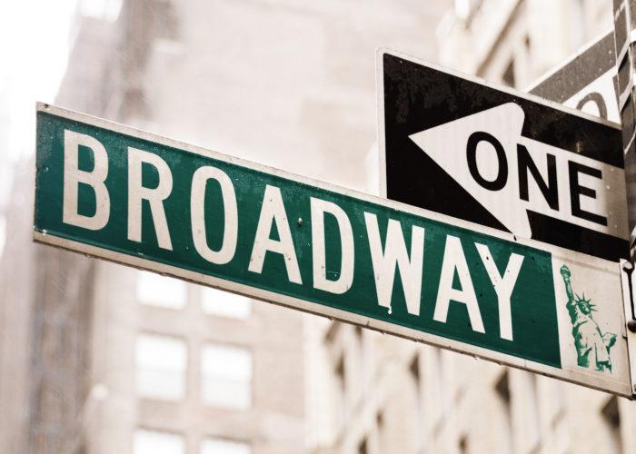 Broadway street sign in New York City, New York