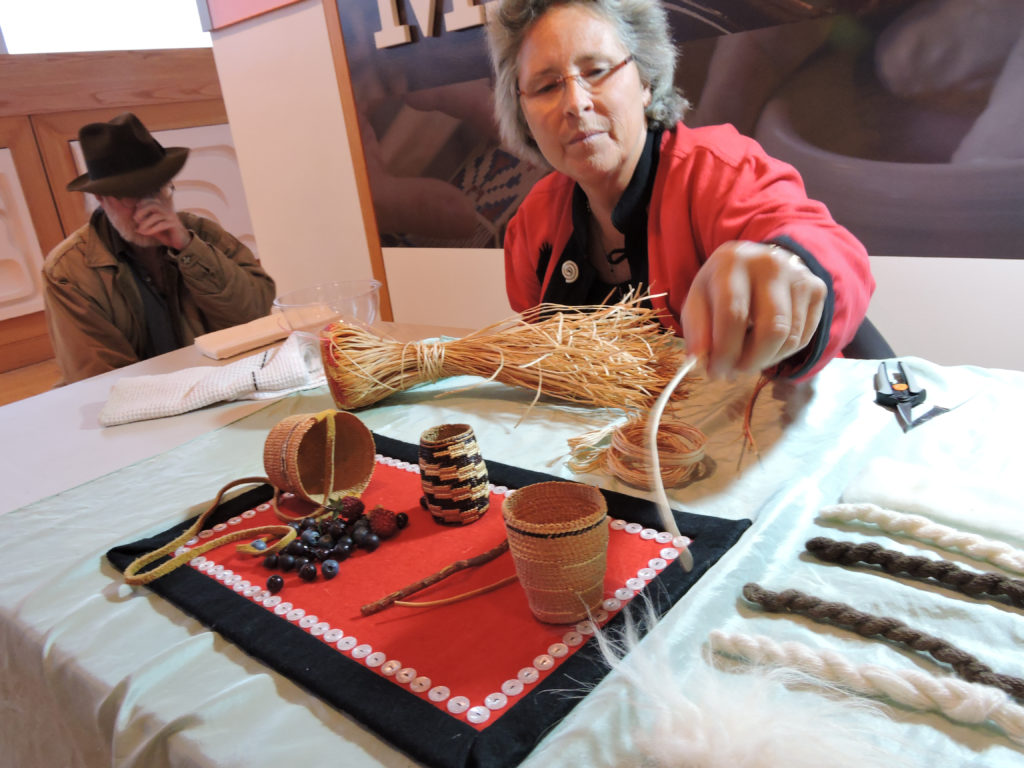 Weaver at Craft Fair at Anchorage Museum
