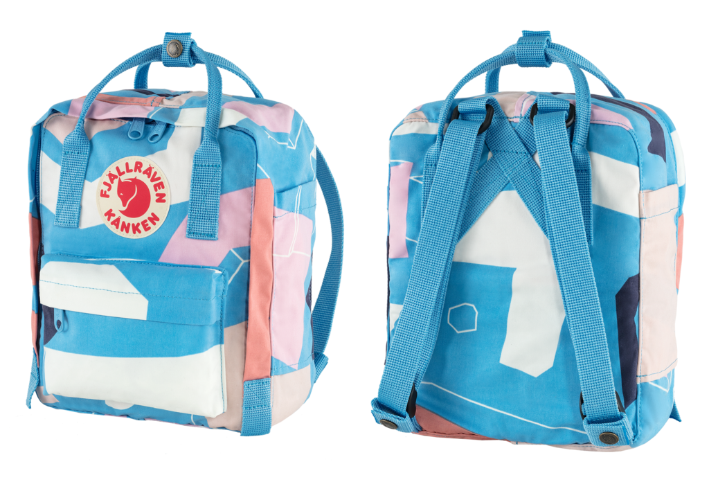 A front and back view of the Kånken Art Mini Backpack