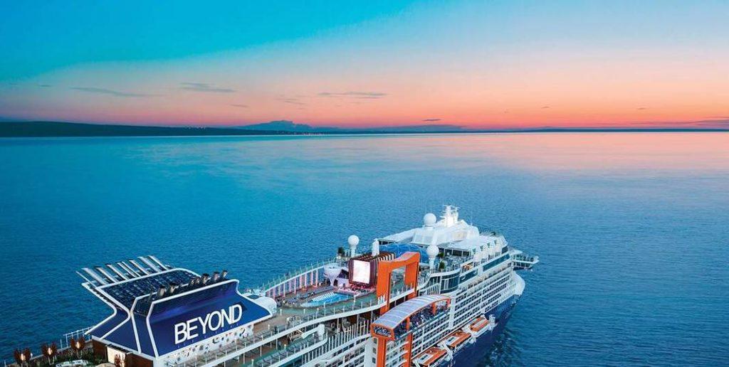 Cruise ship on open ocean from Celebrity Cruises fleet
