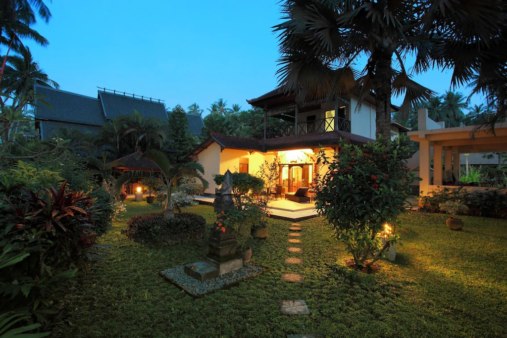 The exterior of a vacation rental home in Bali, Indonesia