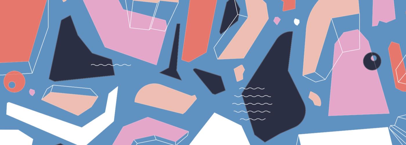 Multi-colored pastel pattern from the 2021 Fjällräven Kånken Art Collection