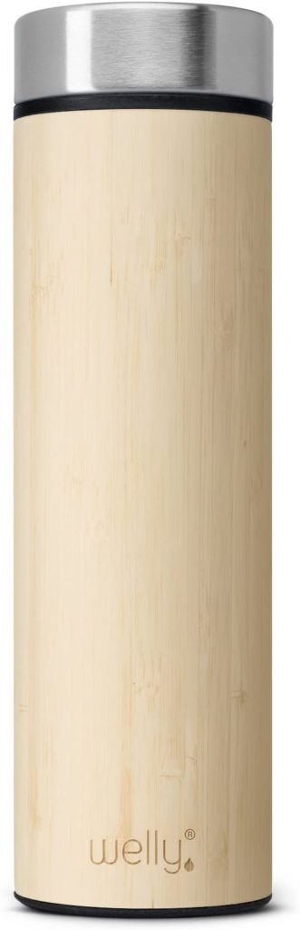 Welly Vacuum Insulated Stainless Steel Bamboo Water Bottle