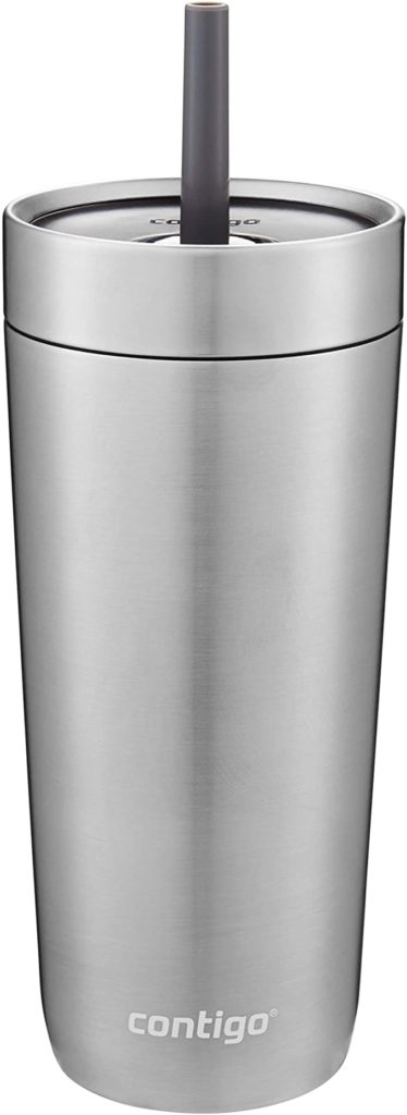Contigo Luxe Stainless Steel Tumbler with Spill-Proof Lid and Straw